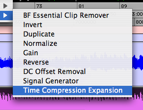 Time Compression/Expansion in Pro Tools