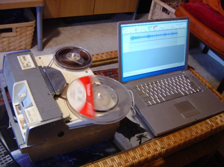 Wollensak 3M tape recorder and Mac